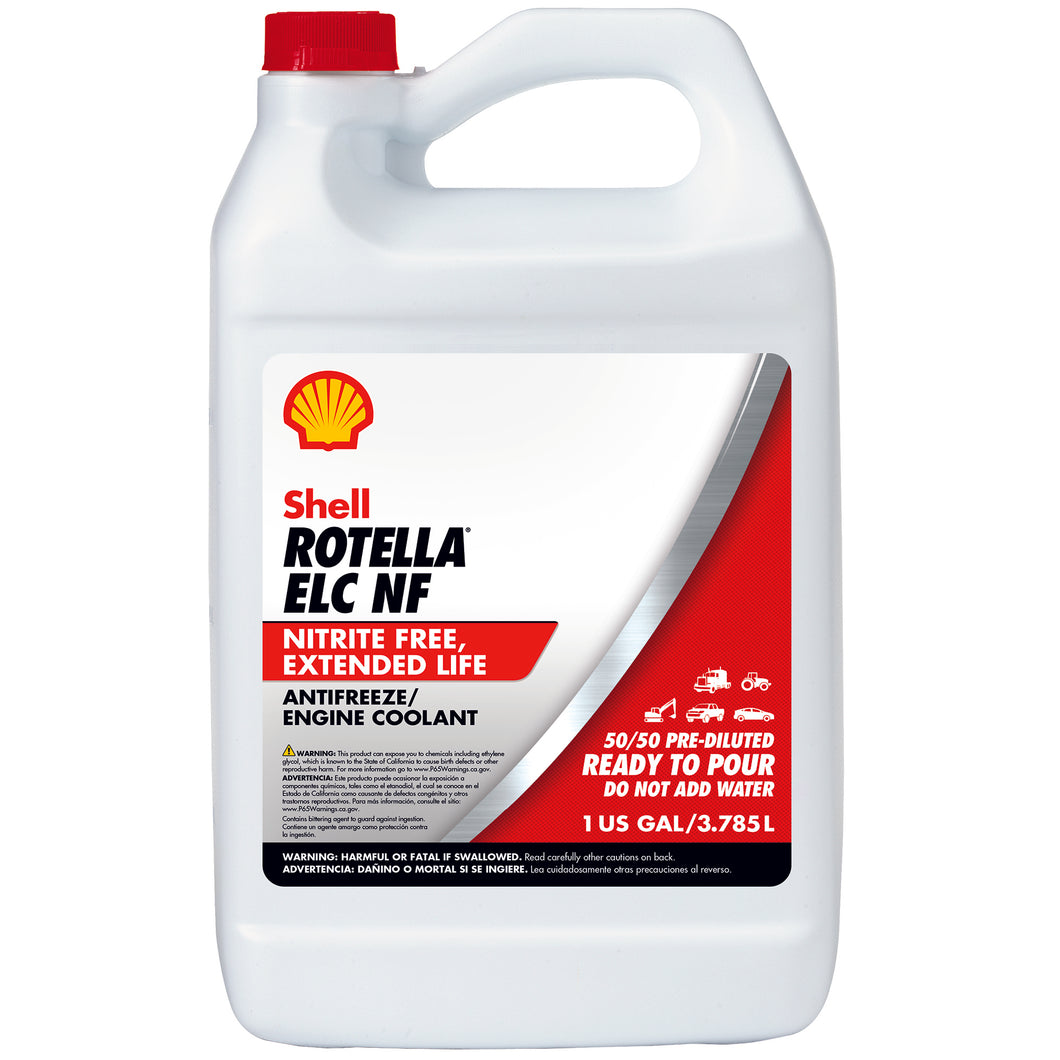 Shell Rotella ELC NF Antifreeze-Coolant Pre-Diluted 50/50 - Case of 6 (1 Gallon)