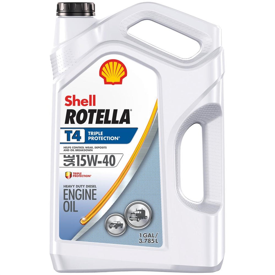 Shell Rotella T4 Triple Protection 15W-40 CJ4 Motor Oil - Case of 3 (1 Gallon)