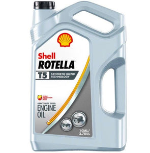 Shell ROTELLA T5 10W-30 Synthetic Blend Engine Oil - Case of 3 (1 Gallon)