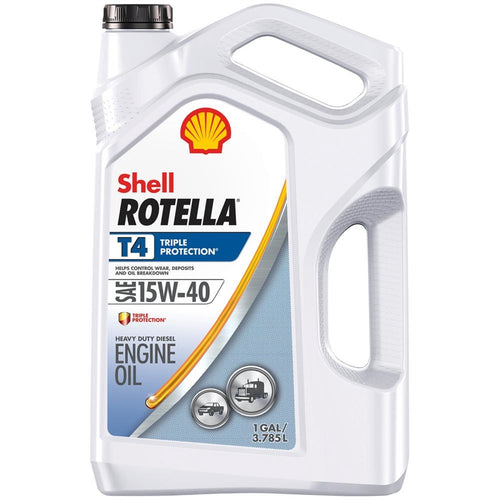Shell Rotella T4 Triple Protection 10W-30 Motor Oil - Case of 3 (1 Gallon)