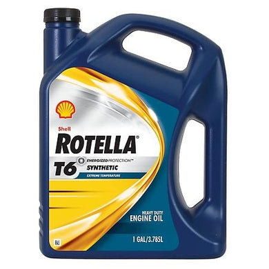 Shell Rotella T6 5W-40 (CJ-4) Fully Synthetic Heavy Duty Engine Oil - Case of 3 (1 Gallon)