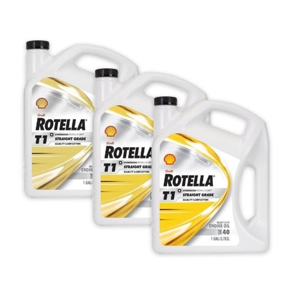 Shell Rotella T1 40 (CF/CF-2) Engine Oil - Case of 3 (1 Gallon)