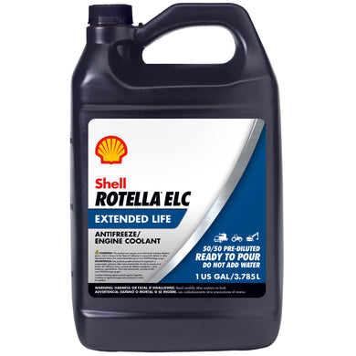 Shell Rotella ELC Antifreeze-Coolant Pre-Diluted 50/50 - Case of 6 (1 Gallon)