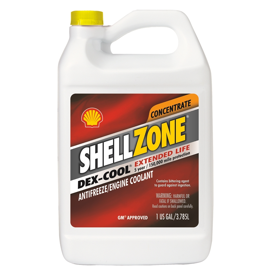 ShellZone DEX-COOL Concentrate Antifreeze/Coolant - Case of 6 (1 Gallon)