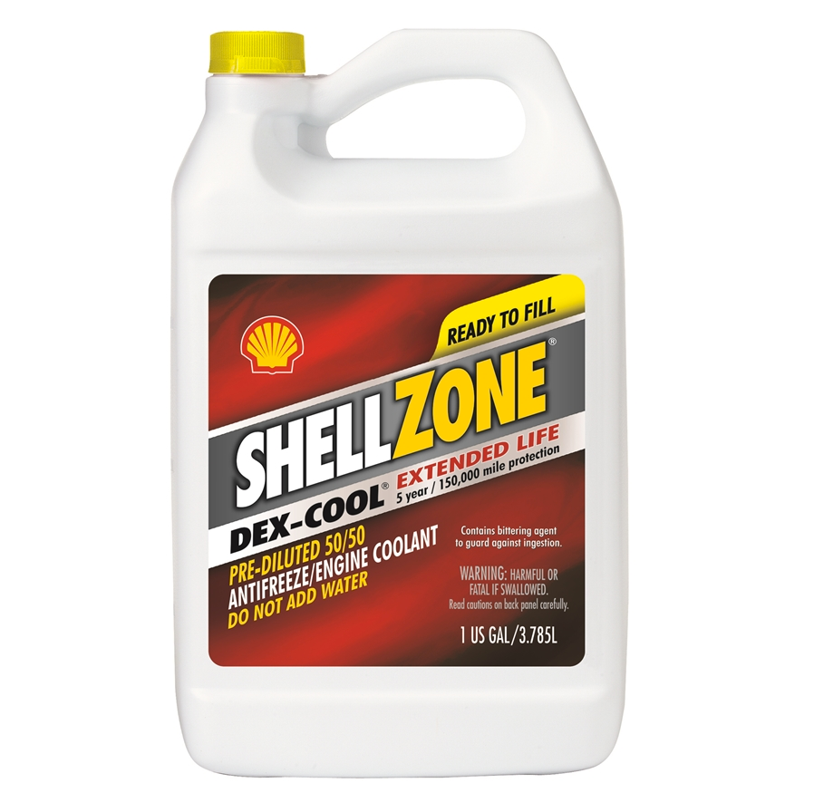 ShellZone DEX-COOL Ready to Use 50/50 Antifreeze - Case of 6 (1 Gallon)