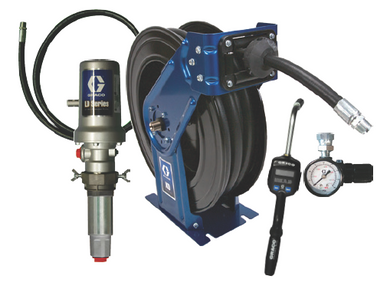 3:1 Graco LD Pump Kit with 75ft. SD Reel and Preset Meter