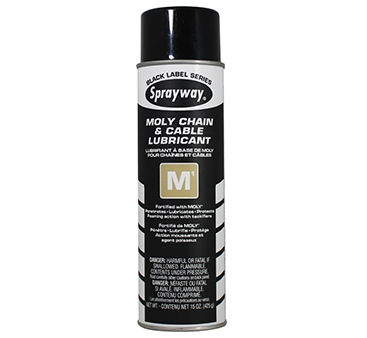Sprayway M1 Moly Chain & Cable Lubricant - Case of 12