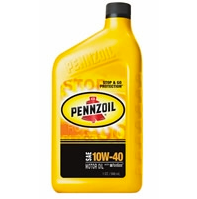 Pennzoil SAE 10W-40 Motor Oil - Case of 12 (1 qt)