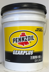Pennzoil Gearplus 80W-90 GL-5 Longlife Gear and Axle Oil - 35 Pound Pail