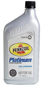 Pennzoil Platinum Full Synthetic Motor Oil - Dexos1 Approved, 5W30 - Case of 6 (1 qt)