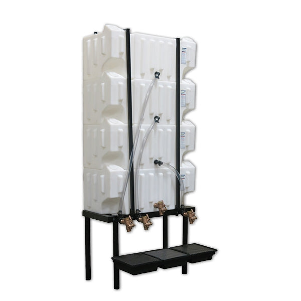 Wall-Stacker Gravity Feed System (4) 32 Gallon Tanks