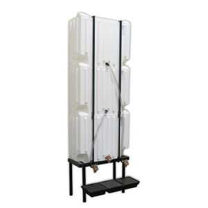 Wall-Stacker Gravity Feed System (3) 71 Gallon Tanks