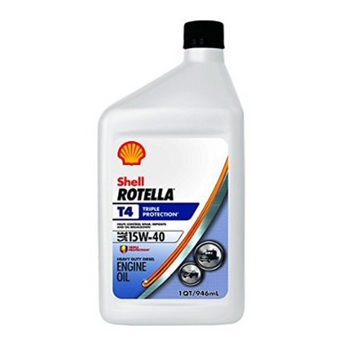 Shell Rotella T4 Triple Protection 15W-40 Motor Oil - Case of 12 (1 qt)