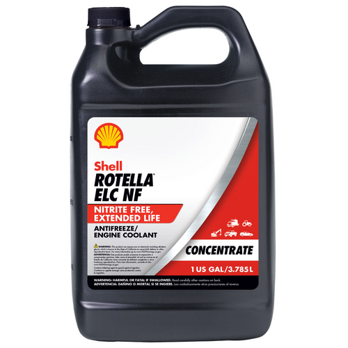 Shell Rotella ELC NF Antifreeze-Coolant Concentrate - Case of 6 (1 Gallon)
