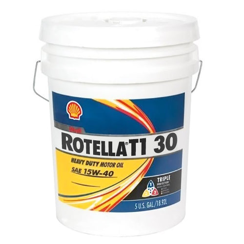 Shell Rotella T1 30 (CF/CF-2) Heavy Duty Diesel Engine Oil - 5 Gallon Pail
