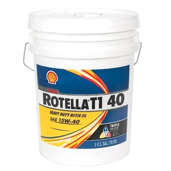 Shell Rotella T1 40 (CF/CF-2) Heavy Duty Diesel Engine Oil - 5 Gallon Pail