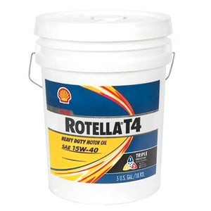 Shell Rotella T4 Triple Protection 15W-40 Motor Oil - 5 Gallon Pail