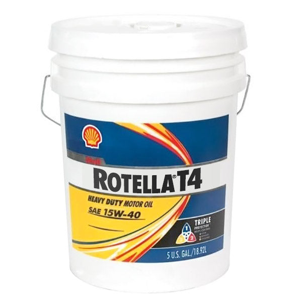 Shell Rotella T4 >> Shell Rotella T4 Triple Protection 15w 40 Motor Oil 5 Gallon Pail