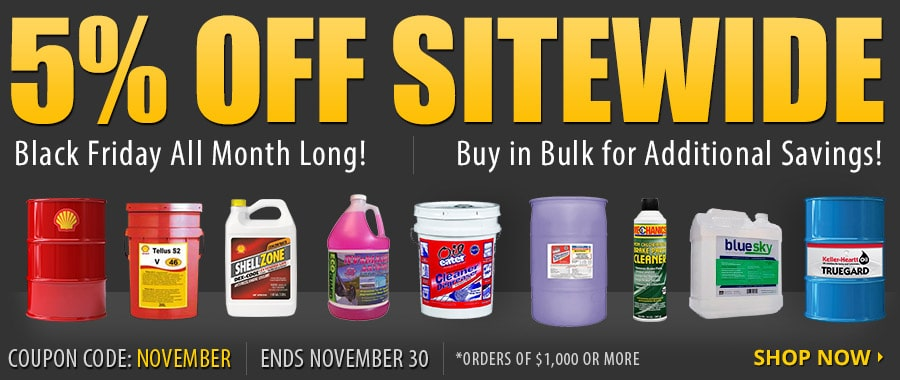 5% Off Sitewide (Black Friday All Month Long) | Black Friday Pricing All Month Long! | Buy In Bulk for Additional Savings! | Ends Nov 30 | Use Code: NOVEMBER