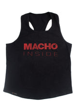 RED AND BLACK MACHO INSIDE