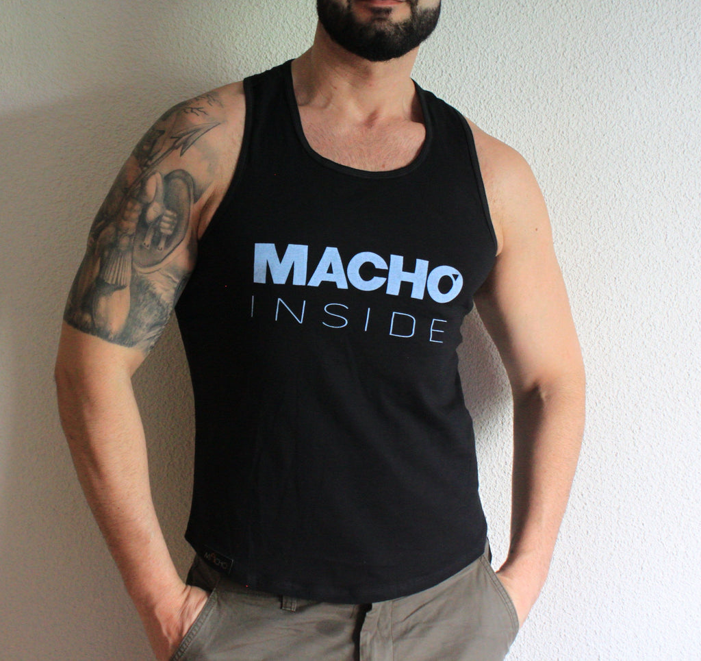 BLUE AND BLACK MACHO INSIDE