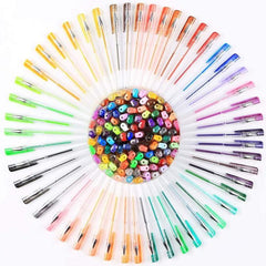 48 Pcs Glitter Gel Pens - Vibrant Colors - Non Toxic Acid Free Ink