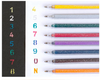 Image of Bold Line Glitter Gel Pens - Vibrant Colors - 8 Pack