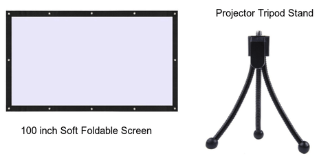 100 inch Soft Foldable Screen + Tripod Stand for Projector