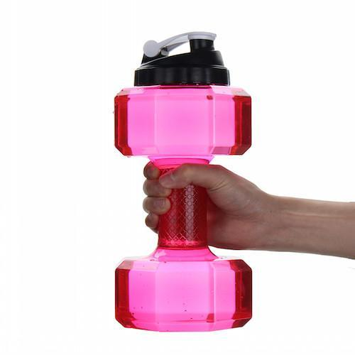 Water Bottle Volume: Dumbbell Shaped Water Bottle 2.2L Volume