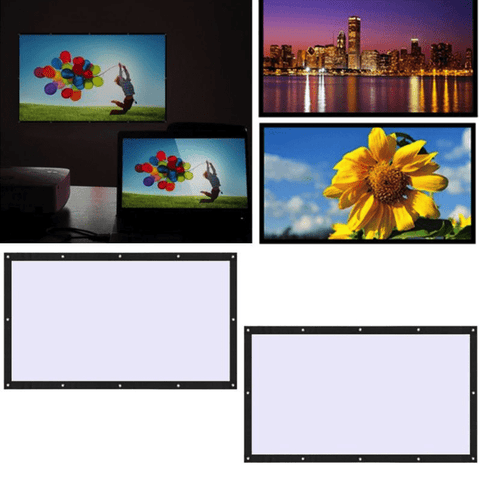 Soft Foldable 100 inch 16: 9 Ratio Polyester Projector Screen