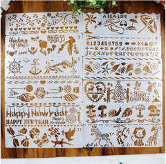 12 Pcs Craft Stencils