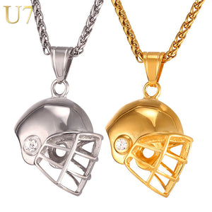 Men's Fashion - Helmet Necklace - Pendant & Chain