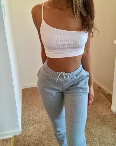 Gray Slimming Joggers