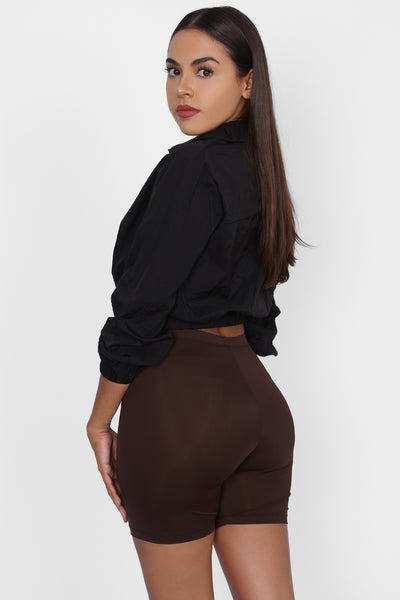 Basic Biker Shorts Brown
