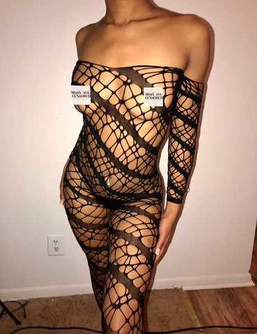 LACY FISHNET JUMPER