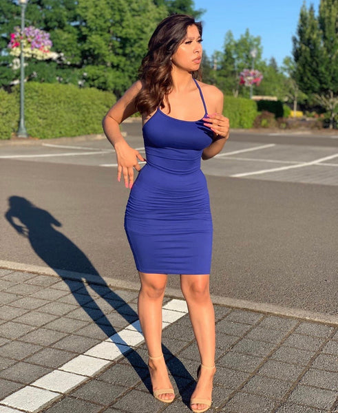 Bree Royal Blue Mini Dress