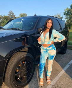 Lucci Tie Dye Track Set TURQUOISE