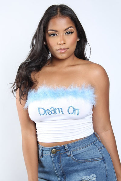Dream On Feathered Top