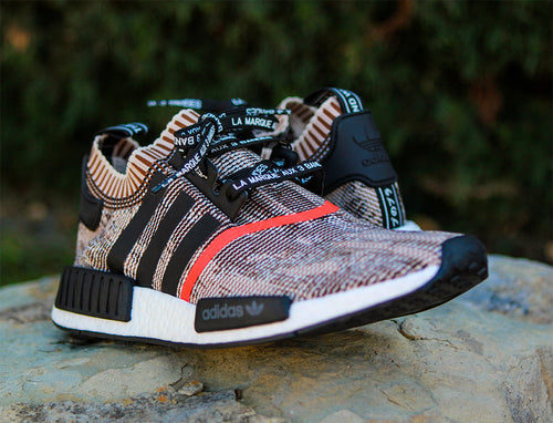 Adidas PK NMD_R1 Primeknit Tan Limited AI Camo Limited Lace Swap