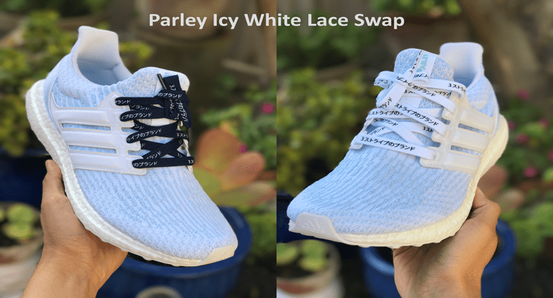 0593878ce Lace Swap for Parley Icy White Ultraboost 3.0