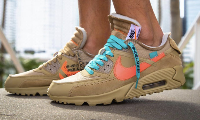 Off White X Nike Air Max 90 Desert Ore Replacement Laces