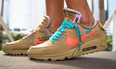 Off White x Nike Air Max 90 Desert Ore Shoelaces