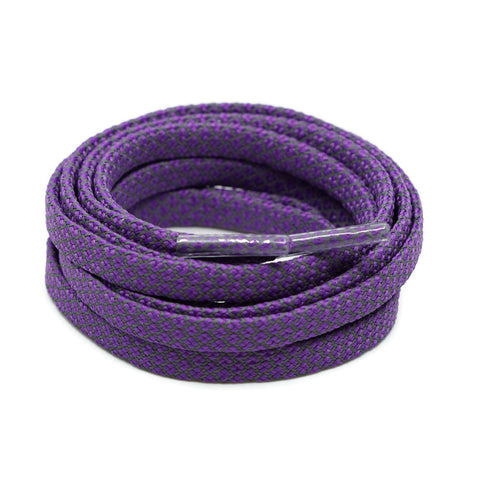 3M Reflective Flat Shoelaces - Dark Purple