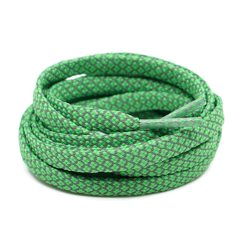 3M Reflective Flat Shoelaces - Emerald Green