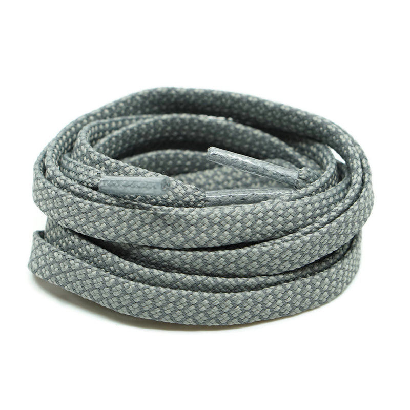 3M Reflective Flat Shoelaces - Gray