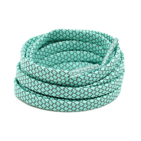 3M Reflective Flat Shoelaces - Mint