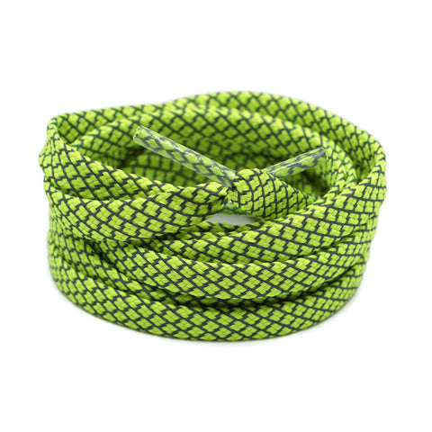 3M Reflective Flat Shoelaces - Neon Green