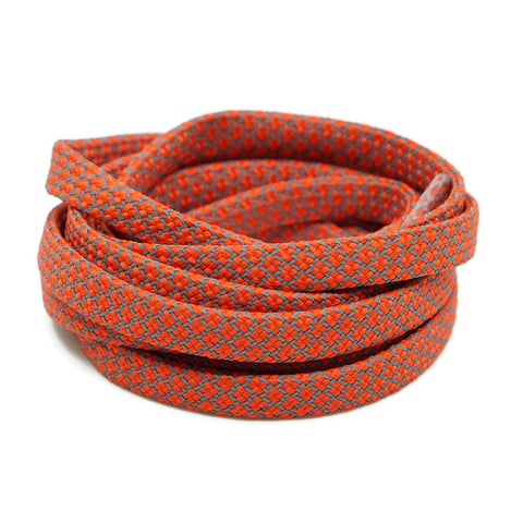 3M Reflective Flat Shoelaces - Red Orange