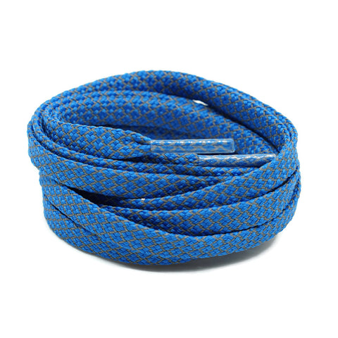 3M Reflective Flat Shoelaces - Royal Blue