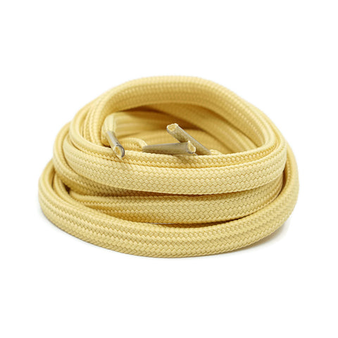 Flat Laces - Creme Yellow